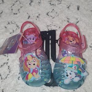 Paw patrol jelly sandals brand new